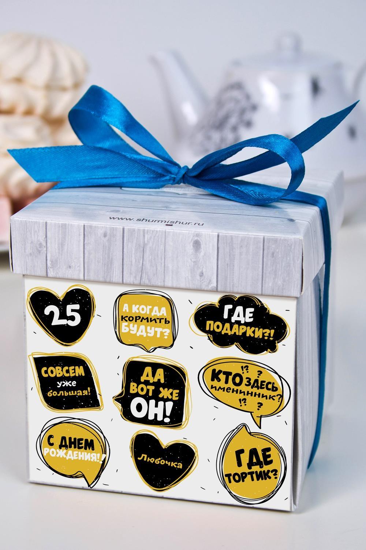 Печенье с предсказанием именное Кто именинник?Подарки ко дню рождения<br>Порадуйте близкого вам человека необычным, а главное вкусным подарком. В каждом печенье можно найти индивидуальное предсказание. В упаковке - 5 шт. Размер коробки: 10х10х10см<br>
