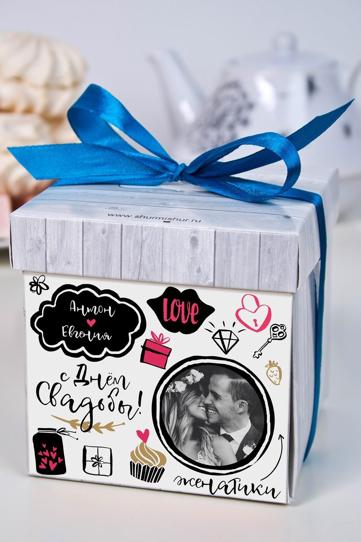 Печенье с предсказанием именное ЖенатикиСувениры и упаковка<br>Порадуйте близкого вам человека необычным, а главное вкусным подарком. В каждом печенье можно найти индивидуальное предсказание. В упаковке - 5 шт. Размер коробки: 10х10х10см<br>