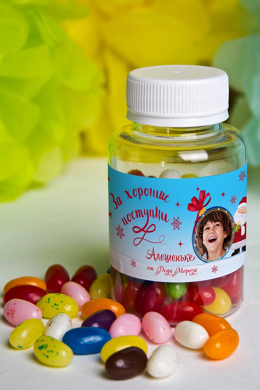 Мармелад «Цветные бобы» с Вашим именем Поверь в сказкуНовогодние сладости<br>Конфеты мармеладные с вашим текстом, 125гр<br>
