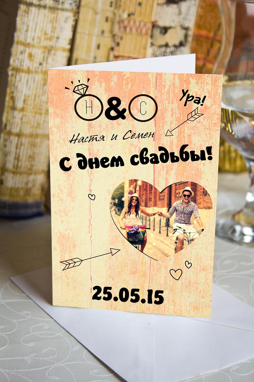 Открытка с вашим текстом Мы женимсяСувениры и упаковка<br>Открытка двойная с Вашими фото и поздравлением. Дизайнерская бумага. Размер в сложенном виде 10х15см<br>