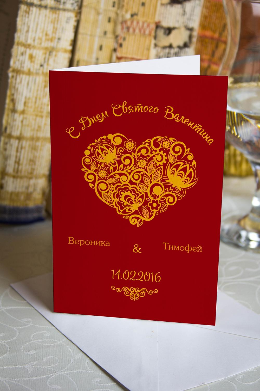 Открытка двойная с Вашим текстом Ажурное сердцеОткрытки про Любовь<br>Открытка двойная с Вашими фото и поздравлением. Дизайнерская бумага. Размер в сложенном виде 10х15см<br>