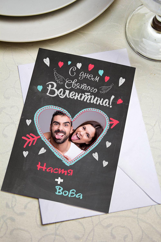 Валентинка с Вашим текстом Цветные мелкиСувениры и упаковка<br>Валентинка с Вашим поздравлением. Дизайнерская бумага. Размер 10х15см<br>