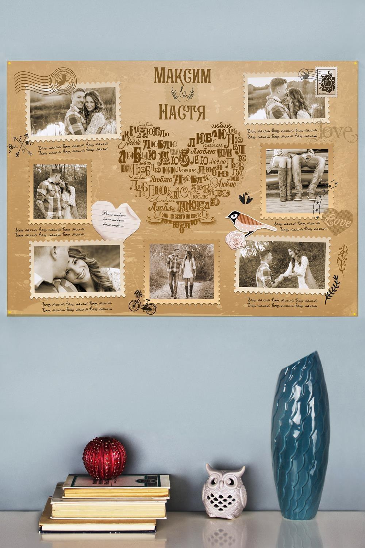 Фотогазета с Вашим текстом Признание в любвиИнтерьер<br>Стенгазета с Вашими фото и текстом, размер 84*60см<br>