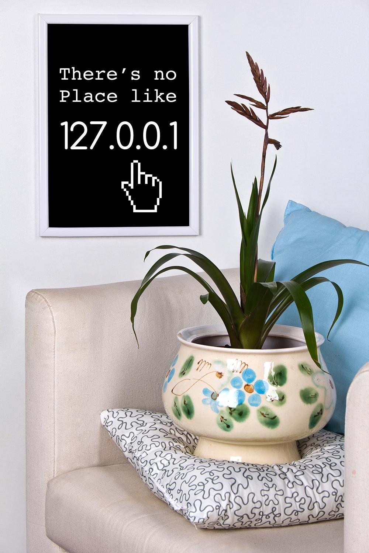Постер в раме с Вашим текстом There is no plaсeУкрашения на стену<br>Постер в раме с Вашими фото и текстом, размер 21*30см, пласт., белый<br>