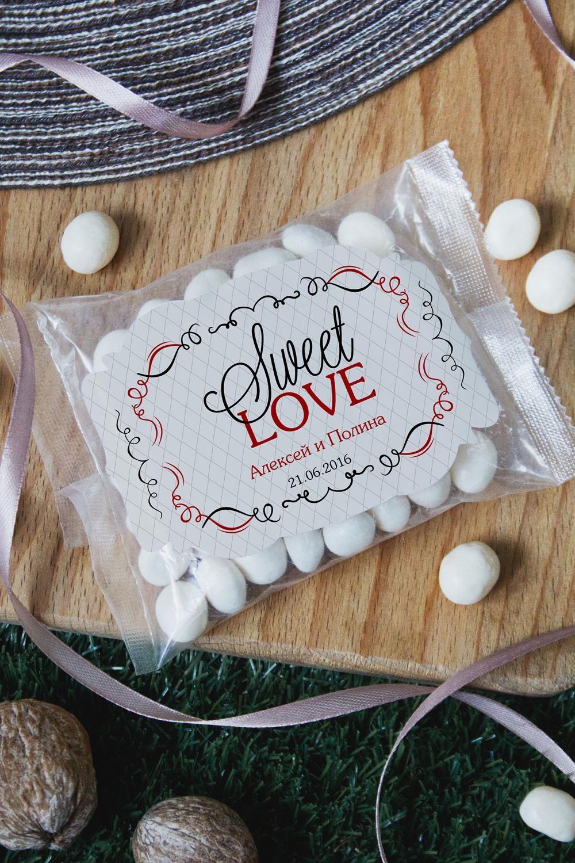 Мармелад-драже именной Sweet LoveПодарки на свадьбу<br>Мармелад-драже с Вашим текстом. Вес: 100 грамм<br>