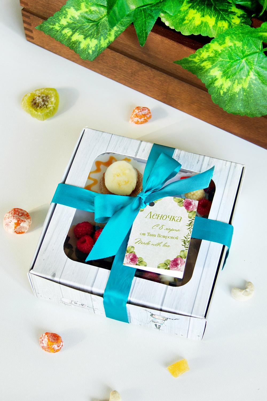 Набор мыла с Вашим текстом БукетШкатулки и наборы по уходу<br>Набор мыла подарочный, 4-предм., в подарочной упаковке, с именной биркой<br>