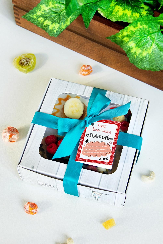 Набор мыла с Вашим текстом СпасибоШкатулки и наборы по уходу<br>Набор мыла подарочный, 4-предм., в подарочной упаковке, с именной биркой<br>
