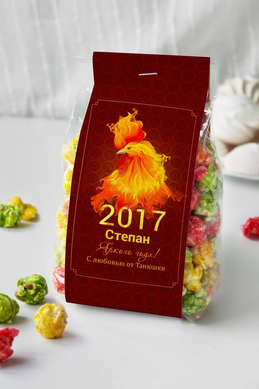 Попкорн именной Огненный петухСувениры и упаковка<br>Попкорн Фруктовый микс в индивидуальной упаковке с Вашим именем, вес: 160гр.<br>