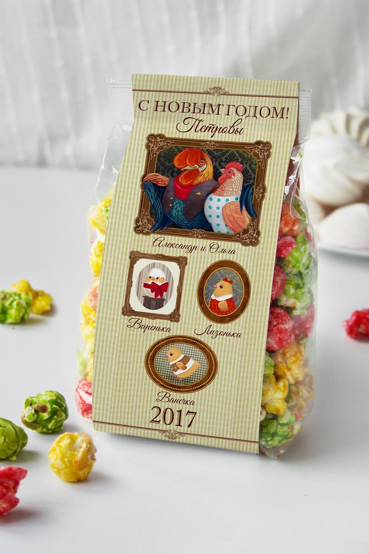 Попкорн именной Наша семьяПодарки для женщин<br>Попкорн Фруктовый микс в индивидуальной упаковке с Вашим именем, вес: 160гр.<br>