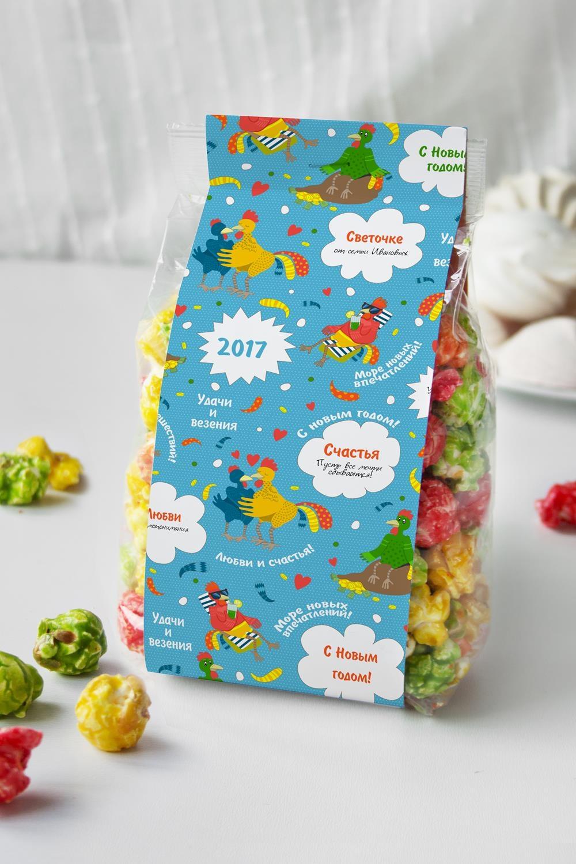 Попкорн именной Подарок на год петухаСувениры и упаковка<br>Попкорн Фруктовый микс в индивидуальной упаковке с Вашим именем, вес: 160гр.<br>