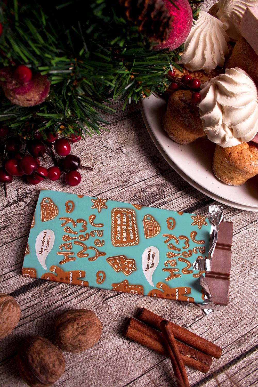 Шоколад с Вашим именем ПряникиСладости<br>Молочный шоколад с изюмом и орехами в персональной именной упаковке будет приятным сувениром для сладкоежки! Масса - 90г.<br>