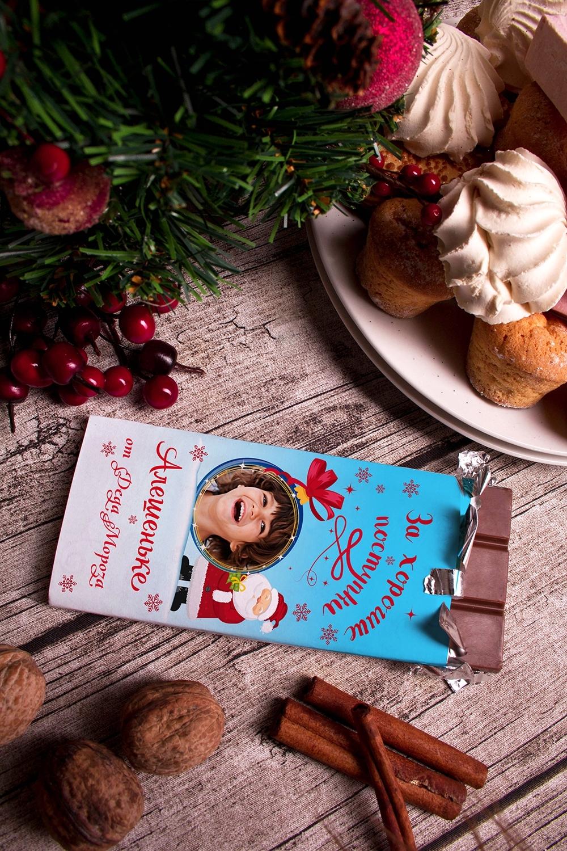 Шоколад с Вашим именем Поверь в сказкуНовогодние сладости<br>Молочный шоколад с изюмом и орехами в персональной именной упаковке будет приятным сувениром для сладкоежки! Масса - 90г.<br>