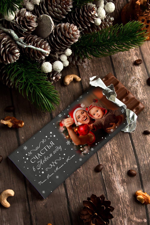 Шоколад с Вашим именем Меловая доскаСувениры и упаковка<br>Молочный шоколад с изюмом и орехами в персональной именной упаковке будет приятным сувениром для сладкоежки! Масса - 90г.<br>