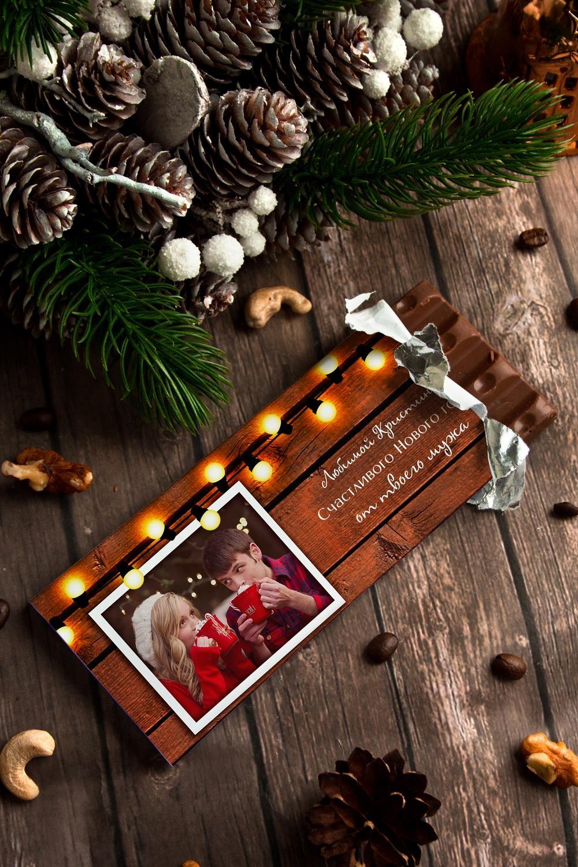 Шоколад с Вашим именем Теплые пожеланияСувениры и упаковка<br>Молочный шоколад с изюмом и орехами в персональной именной упаковке будет приятным сувениром для сладкоежки! Масса - 90г.<br>