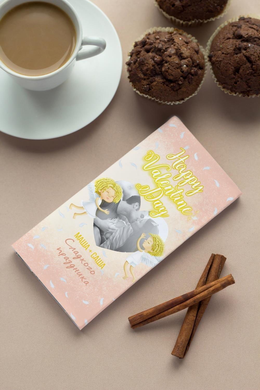 Шоколад с Вашим именем НежностьСувениры и упаковка<br>Молочный шоколад с изюмом и орехами в персональной именной упаковке будет приятным сувениром для сладкоежки! Масса - 90г.<br>