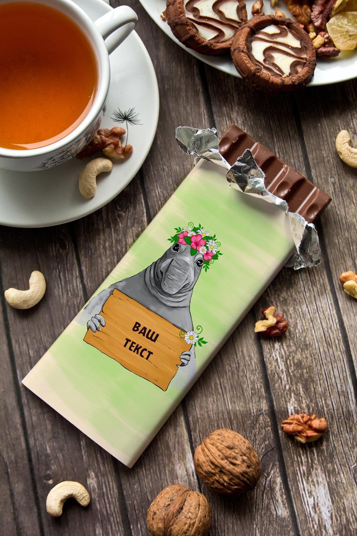 Шоколад с Вашим именем ЖдунПодарки на 8 марта<br>Молочный шоколад с изюмом и орехами в персональной именной упаковке будет приятным сувениром для сладкоежки! Масса - 90г.<br>