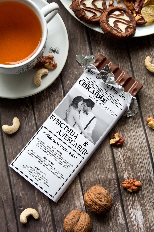 Шоколад с Вашим именем Свадебная газетаСувениры и упаковка<br>Молочный шоколад с изюмом и орехами в персональной именной упаковке будет приятным сувениром для сладкоежки! Масса - 90г.<br>