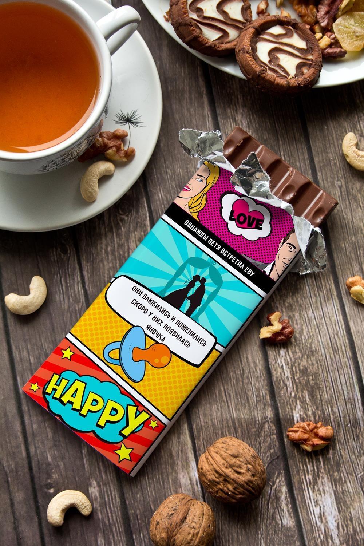 Шоколад с Вашим именем История семьиСувениры и упаковка<br>Молочный шоколад с изюмом и орехами в персональной именной упаковке будет приятным сувениром для сладкоежки! Масса - 90г.<br>