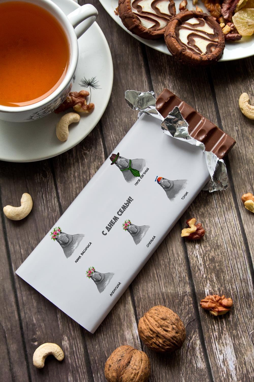 Шоколад с Вашим именем Cемья ждуновСувениры и упаковка<br>Молочный шоколад с изюмом и орехами в персональной именной упаковке будет приятным сувениром для сладкоежки! Масса - 90г.<br>