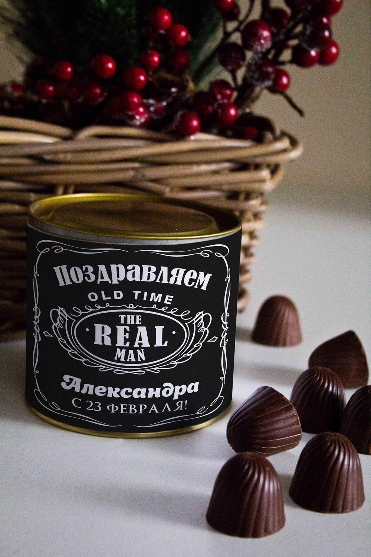 Банка шоколадных конфет с Вашим именем ДжекСувениры и упаковка<br>Банка шоколадных конфет с Вашим именем, 130г (8 конфет ассорти). Размер банки: 9*10см.<br>