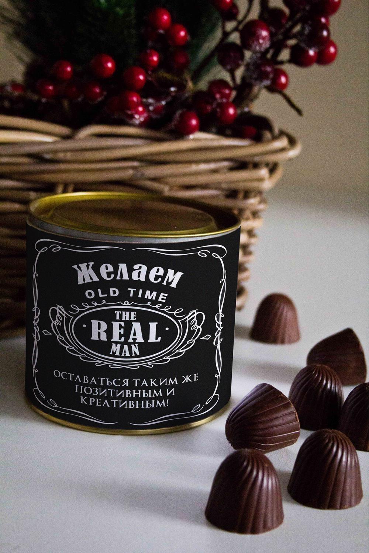 Обычно выглядит Банка шоколадных конфет с Вашим именем