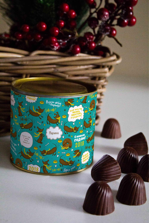 Банка шоколадных конфет с Вашим именем  Таксики  - артикул:8daf68