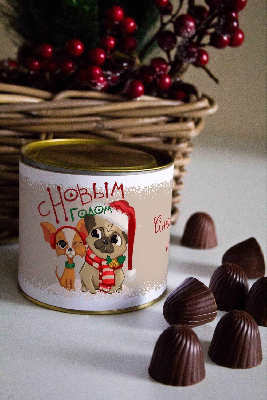 Банка шоколадных конфет с Вашим именем ПарочкаСувениры и упаковка<br>Банка шоколадных конфет с Вашим именем, 130г (8 конфет ассорти). Размер банки: 9*10см.<br>