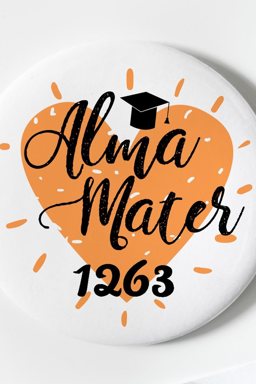 """Магнит с Вашим текстом """"Alma mater"""" от Красный куб"""