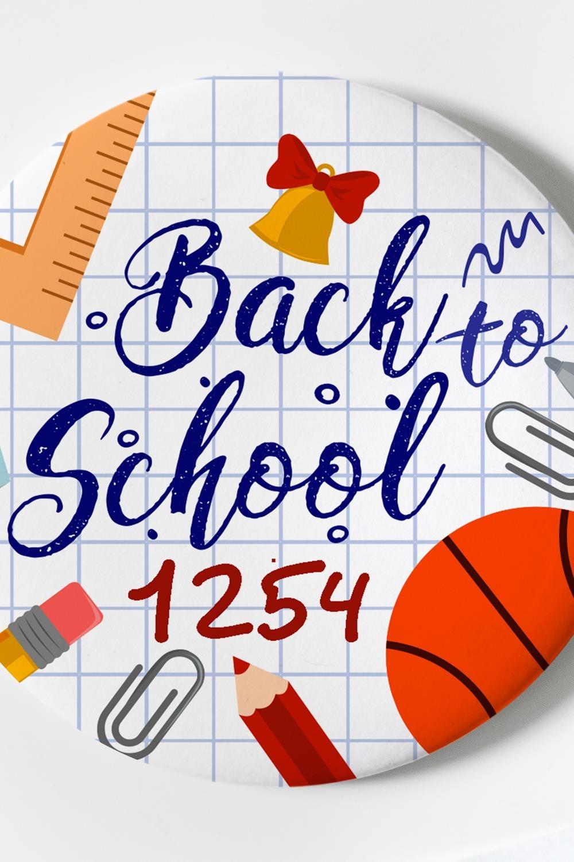 """Магнит с Вашим текстом """"Back to school"""" от Красный куб"""