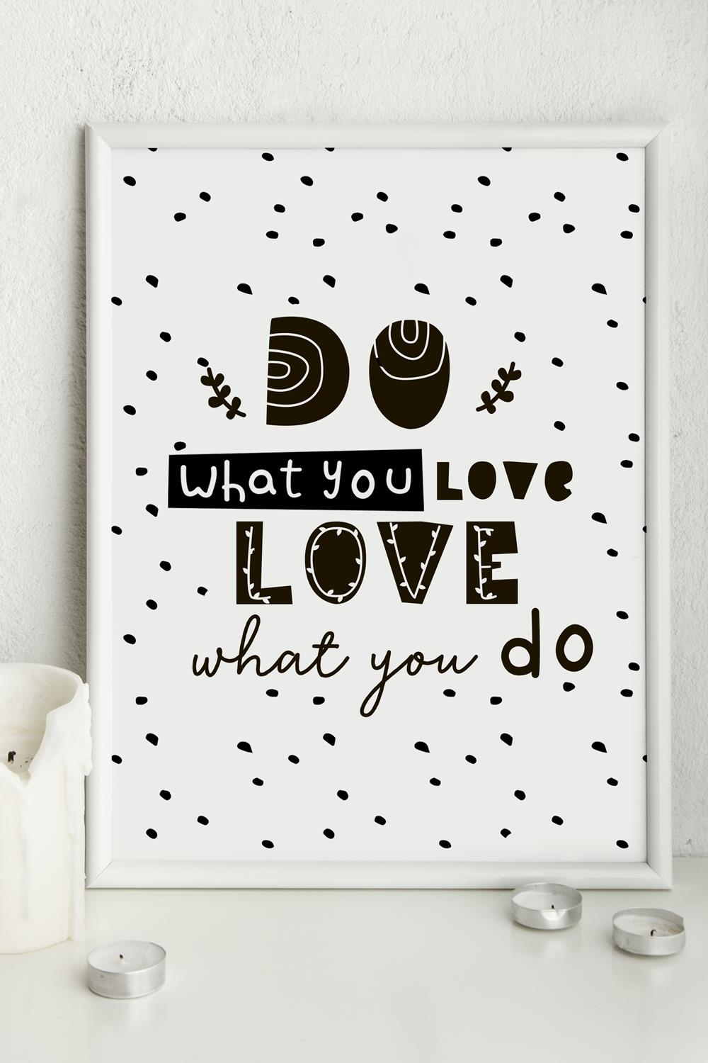 Постер 30х40 в раме Do what you loveИнтерьер<br>30*40см.<br>