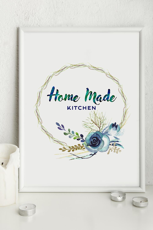 Постер 21х30 в раме Home made kitchenИнтерьер<br>21*30см.<br>