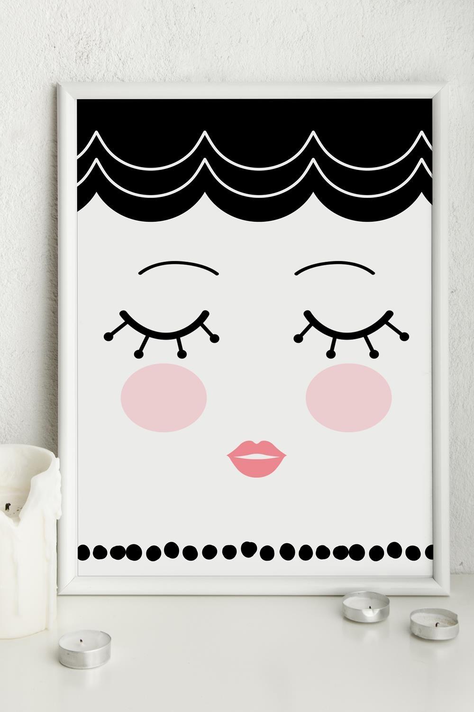Постер в раме МоллиИнтерьер<br>Постер в раме, размер 21*30см, пластмасса, белый<br>