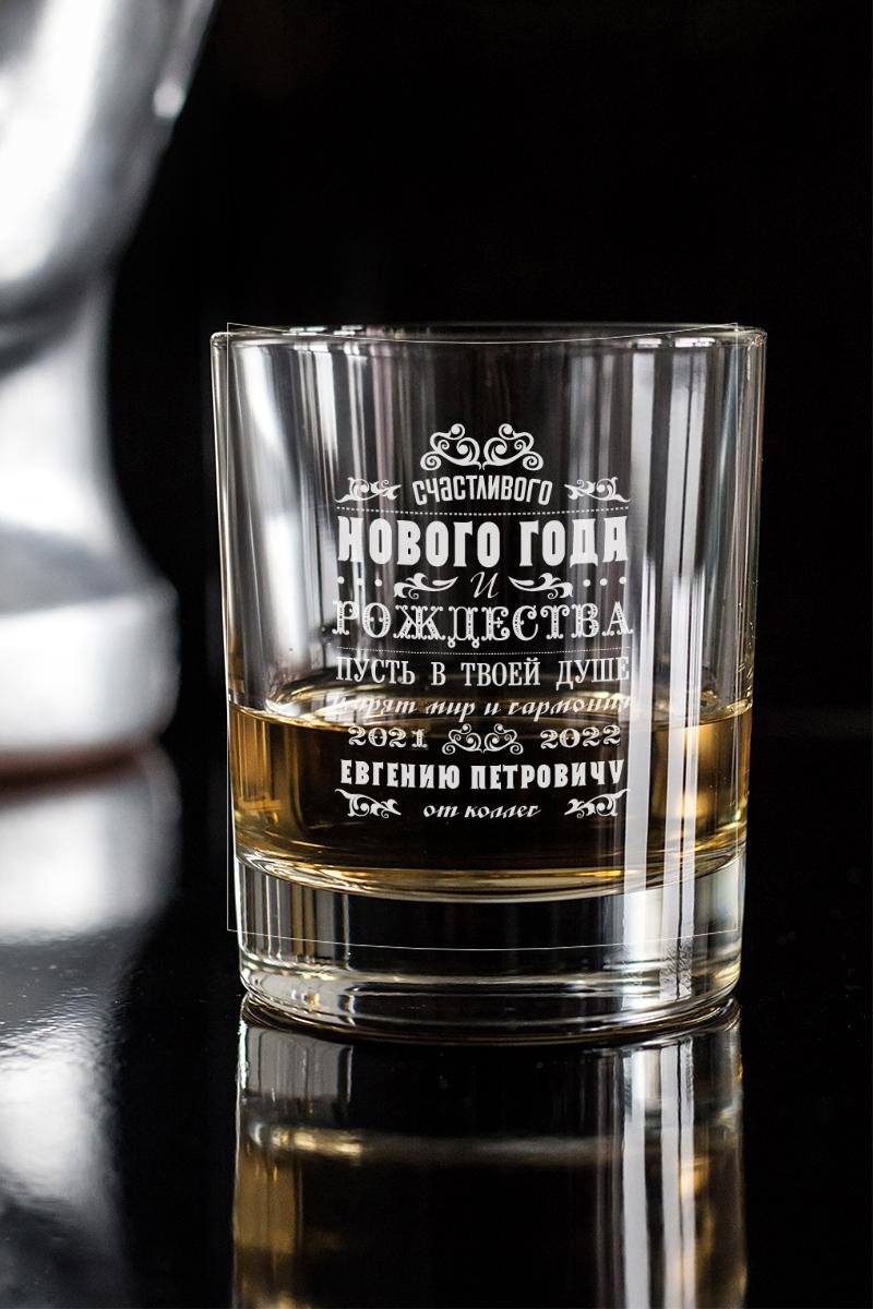 Стакан для виски с именной гравировкой