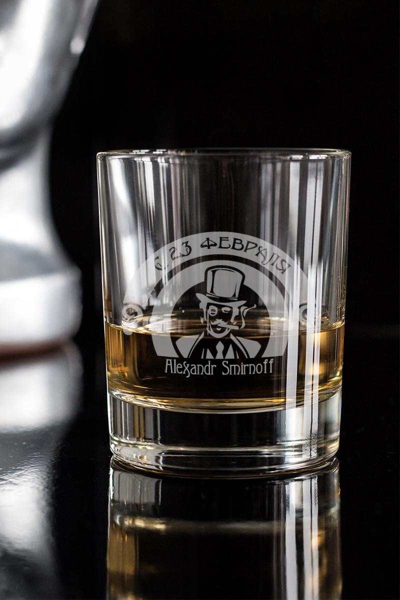 Стакан для виски с вашим текстом  Джентльмен клаб  - артикул:504a71