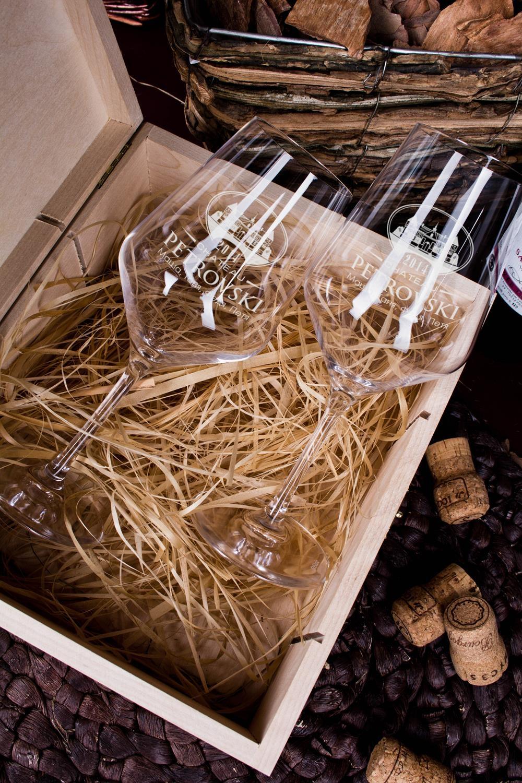 Обычно выглядит Набор бокалов подарочный с именной гравировкой