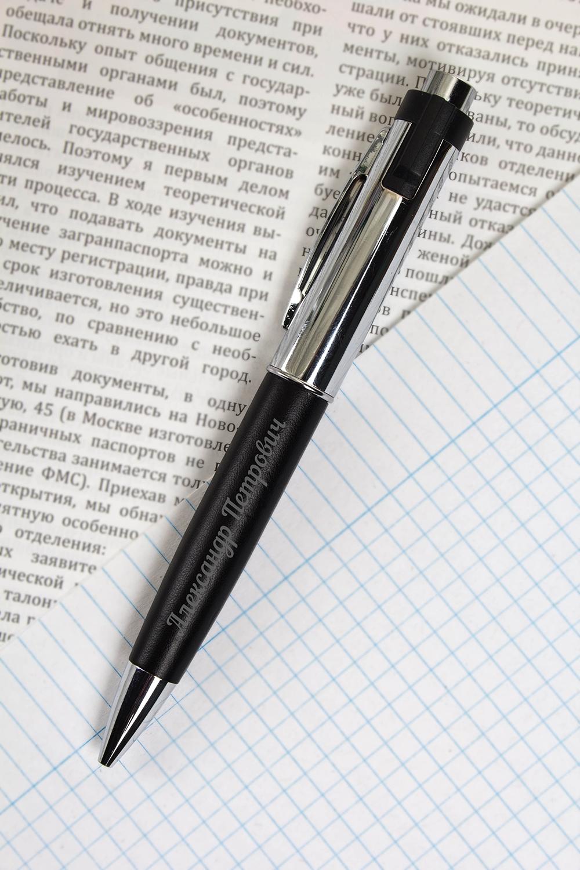USB-накопитель Ручка ИмяСувениры и упаковка<br>Ручка + USB-накопитель, 4Гб, металл. Серебристо-черная, с нанесением текста<br>