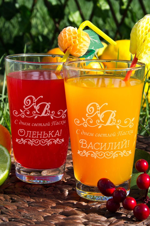 Набор бокалов для лимонада с Вашим именем ХВПосуда<br>Набор бокалов для лимонада с Вашим именем, 2 предм., 400мл., высота 13 см.<br>