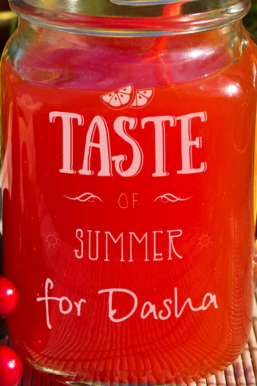 """Кружка-банка с Вашим текстом Mason Jar """"Taste of summer"""""""