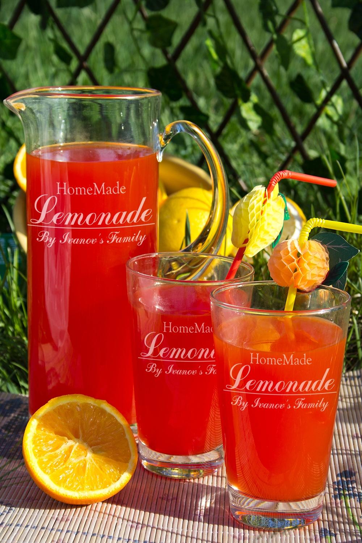 """Кувшин с Вашим текстом """"Homemade Lemonade"""" от Красный куб"""