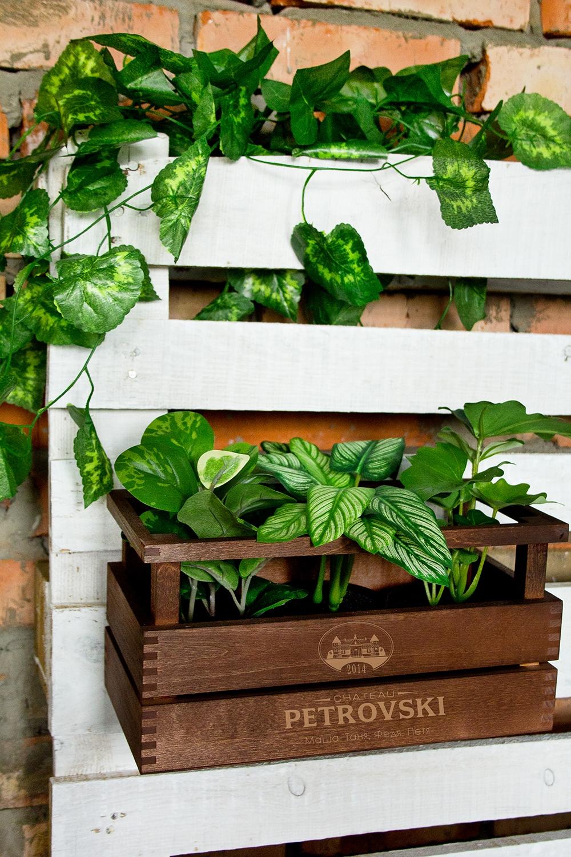 Реечный ящик с именной гравировкой ChateauИнтерьер<br>Реечный ящик с именной гравировкой, размер 30*15*15см, материал: дерево<br>