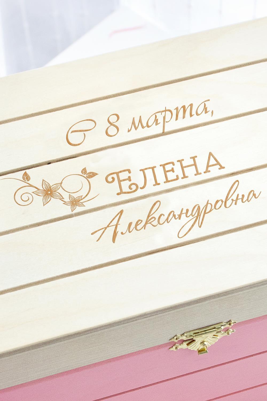 Фото Шкатулка с именной гравировкой