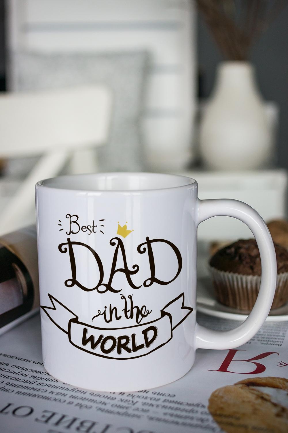 "Кружка с вашим текстом ""Best Dad"""
