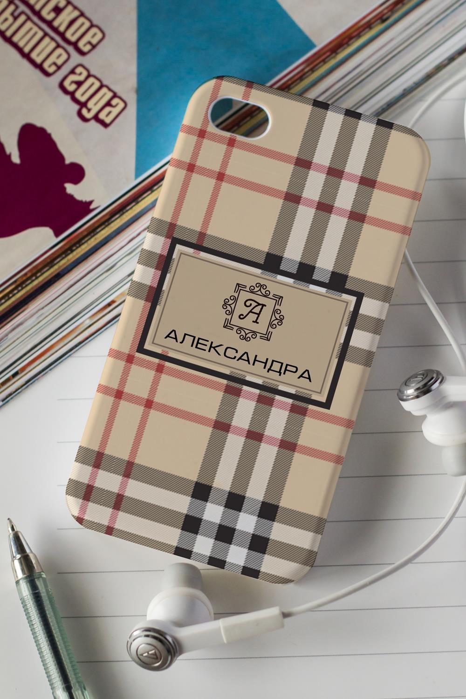 Чехол для iphone 4/4S с вашим текстом Шотландская клеткаПодарки на день рождения<br>Украсьте свой смартфон оригинальным чехлом с чудесной картинкой и Вашим именем! Порадуйте такими необыкновенными подарками друзей и любимых, восторг гарантирован! Выберите понравившийся дизайн и впишите имя получателя подарка. Материал: пластик (для 4/4S)<br>