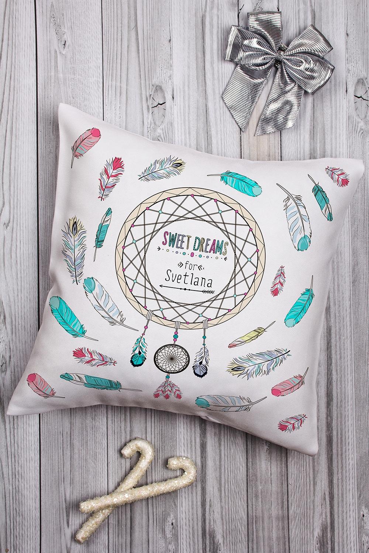 Подушка декоративная с Вашим именем Ловец сновИнтерьер<br>Подушка декоративная, 35*35см, габардин, с нанесением персонального текста<br>