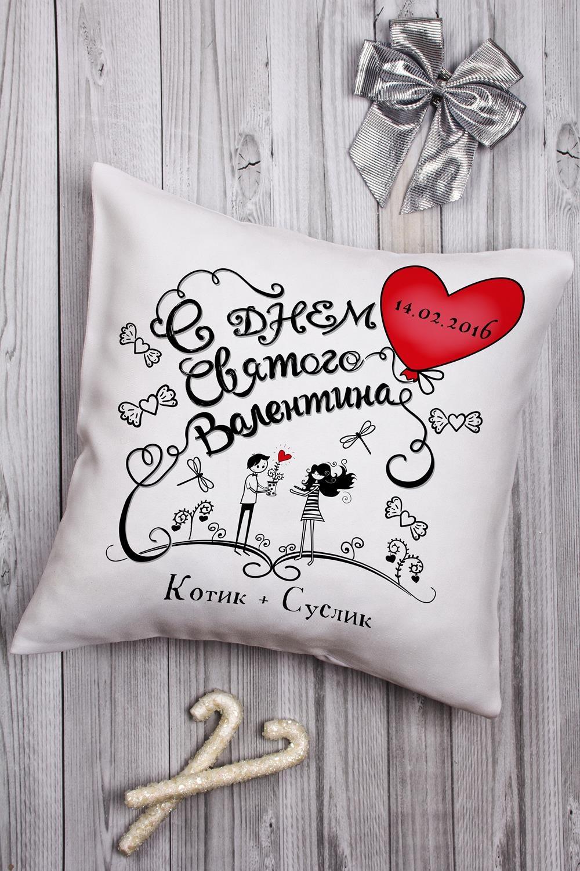Подушка декоративная с Вашим именем ЛюбовьДекоративные подушки<br>Подушка декоративная, 35*35см, габардин, с нанесением персонального текста<br>