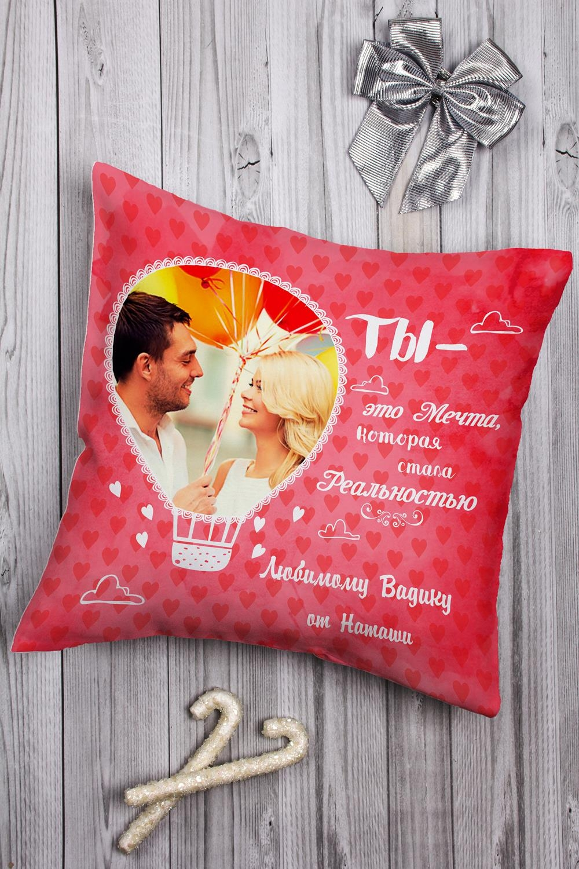 Подушка декоративная с Вашим именем Воздушный шарДекоративные подушки<br>Подушка декоративная, 35*35см, габардин, с нанесением персонального текста<br>