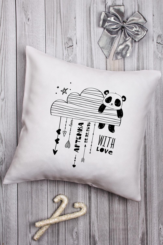 Подушка декоративная с Вашим именем МонохромИнтерьер<br>Подушка декоративная, 35*35см, габардин, с нанесением персонального текста<br>