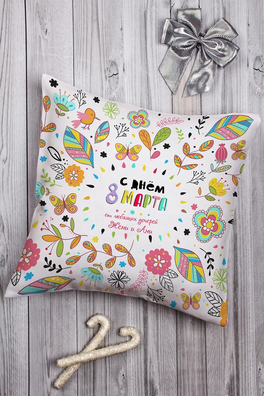 Подушка декоративная с Вашим именем Любимой мамеДекоративные подушки<br>Подушка декоративная, 35*35см, текстиль, с нанесением текста<br>