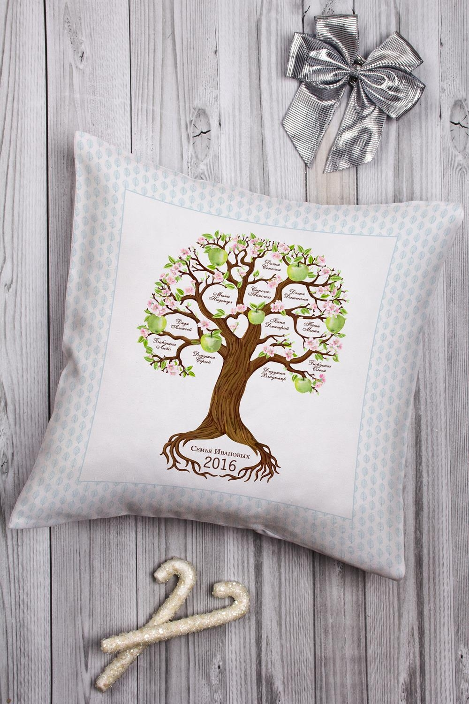 Подушка декоративная с Вашим именем Семейное древоДекоративные подушки<br>Подушка декоративная, 35*35см, габардин, с нанесением персонального текста<br>