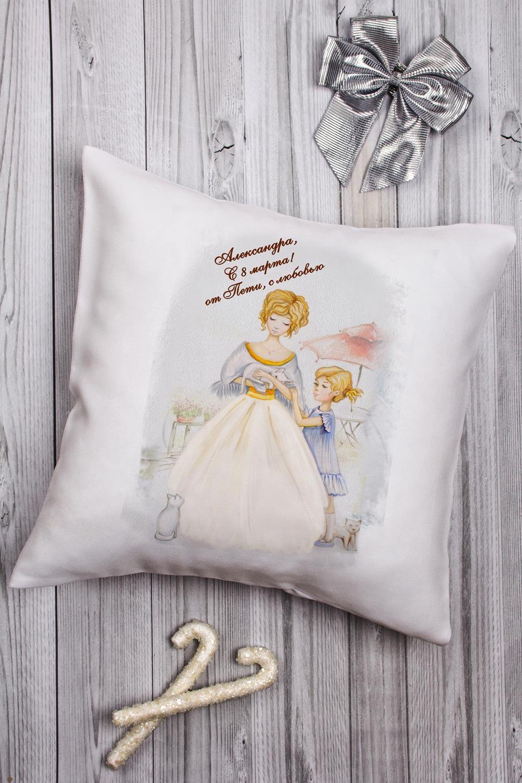 Подушка декоративная с Вашим именем ЛедиДекоративные подушки<br>Подушка декоративная, 35*35см, текстиль, с нанесением персонального текста<br>